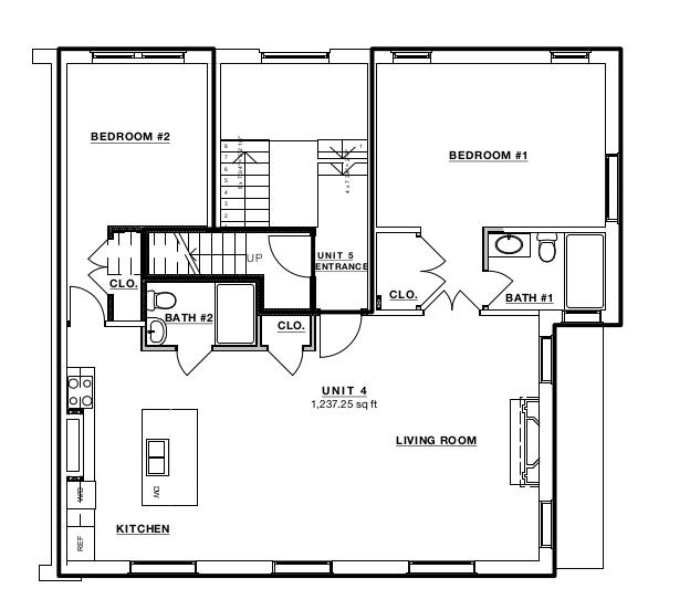 Kalorama condos 1929 19th street nw condo floor plans for 4 unit condo plans